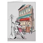 Tango do café cartão