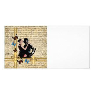 Tango do vintage cartão com foto