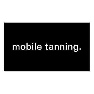 Tanning móvel modelo cartoes de visitas