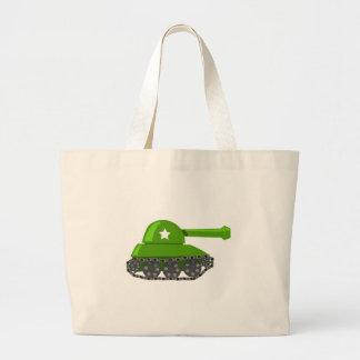 Tanque bonito dos desenhos animados bolsas para compras