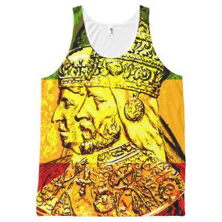 Tanque da camisola interioa de Menen Rasta da Regata Com Estampa Completa