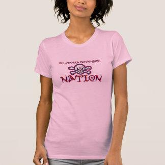 Tanque da nação do defensor das senhoras tshirt