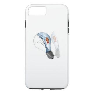 Tanque do peixe dourado da ampola capa iPhone 8 plus/7 plus