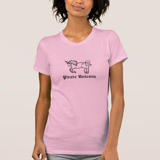 Tanque do unicórnio do pirata t-shirt