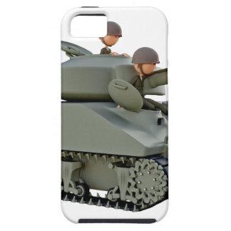 Tanque e soldados dos desenhos animados na capas para iPhone 5