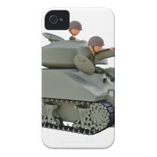 Tanque e soldados dos desenhos animados na capinhas iPhone 4
