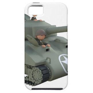 Tanque e soldados dos desenhos animados que vão capas para iPhone 5