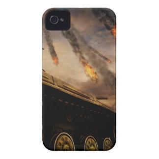 Tanque militar no campo de batalha capa para iPhone