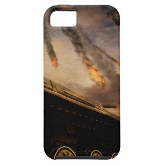 Tanque militar no campo de batalha capa para iPhone 5