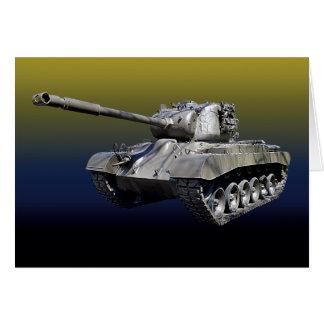 Tanque solitário - cartão interno do vazio
