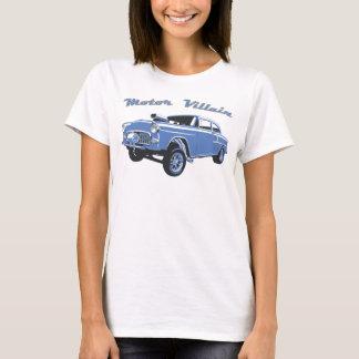 Tanque velho do carro de corridas do hot rod de camiseta