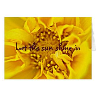tão brilhante quanto o sol cartão