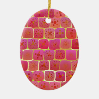 Tão forte quanto uma parede de tijolo ornamento de cerâmica oval