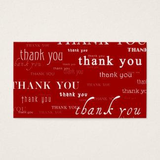 tão muitos obrigado yous para sua referência cartão de visitas