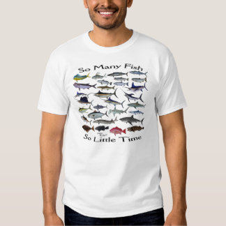 Tão muitos peixes t-shirt
