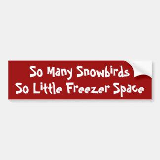 Tão muitos Snowbirds, tão pouco espaço do congelad Adesivo Para Carro