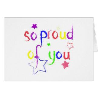 Tão orgulhoso de você parabéns cartão comemorativo