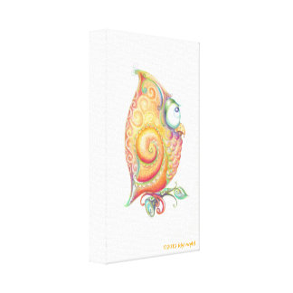 Yellow Owl Canvas Wall Hanging
