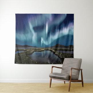 Tapeçaria da parede da aurora boreal grande