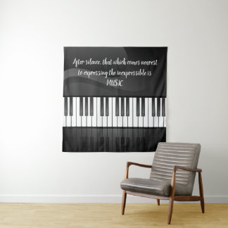 Tapeçaria da parede do design do teclado de piano