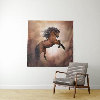 Tapeçaria da parede do quadrado do cavalo selvagem
