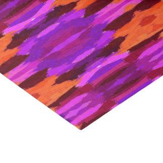 Tapeçaria do lenço de papel roxo e alaranjado
