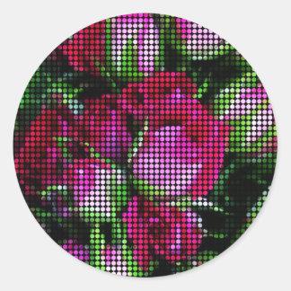 Tapeçaria do Rosebud Adesivo Redondo