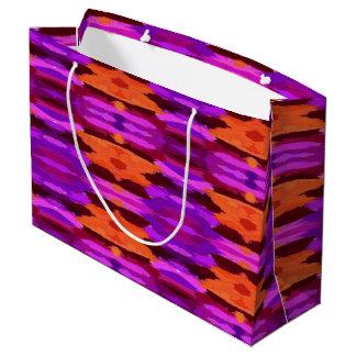 Tapeçaria do saco roxo e alaranjado do presente sacola para presentes grande