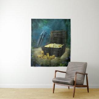 Tapeçaria média da parede da arca do tesouro