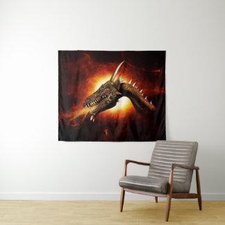 Tapeçaria média da parede do dragão do plasma