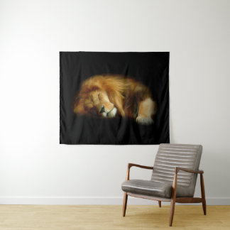 Tapeçaria média da parede do leão do sono