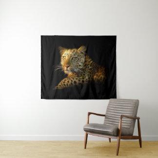 Tapeçaria média da parede do leopardo selvagem