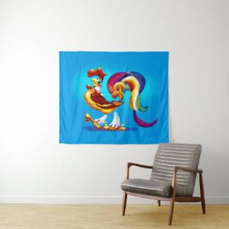 Tapeçaria média da parede dos desenhos animados do