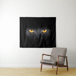 Tapeçaria média da parede dos olhos de gato