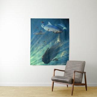 Tapeçaria média do submarino e da parede dos