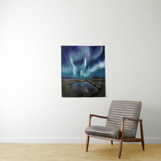 Tapeçaria pequena da parede da aurora boreal