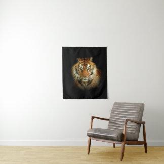 Tapeçaria pequena da parede do tigre selvagem