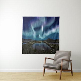 Tapeçaria quadrada da parede da aurora boreal