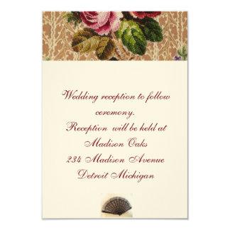 Tapeçaria & rosas espanhóis do convite da recepção