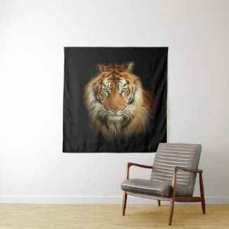 Tapeçaria selvagem da parede do quadrado do tigre