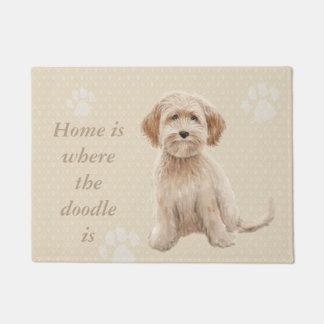 Tapete A casa é o lugar onde o doodle está