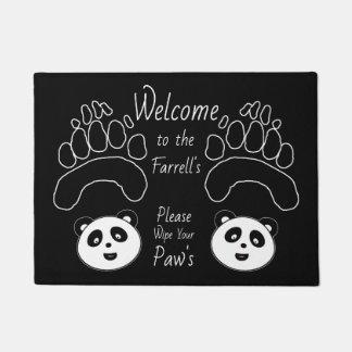 Tapete A esteira bem-vinda da panda feita sob encomenda