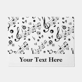 Tapete A música nota o teste padrão personalizado