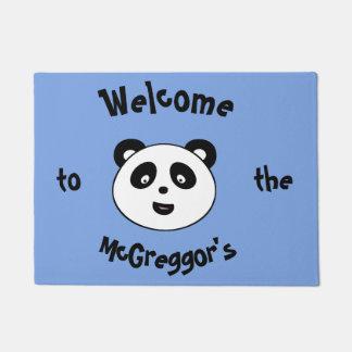 Tapete A panda bem-vinda bonito, adiciona o Doormat do