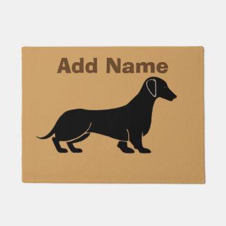 Tapete Abstrato do cão do Dachshund