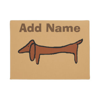 Tapete Abstrato famoso do cão do Dachshund
