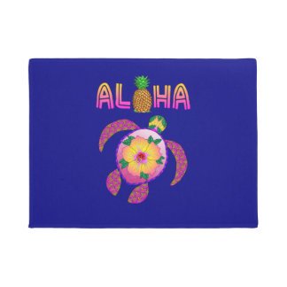 Tapete Aloha tartaruga havaiana de Honu