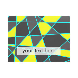 Tapete amarelo de néon brilhante geométrico elegante e