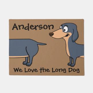 """Tapete Ame o cão longo - Dachshund 18"""" x 24"""" esteira de"""