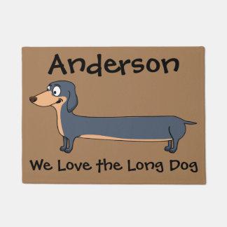 """Tapete Ame o cão longo - Dachshund (2) 18"""" x 24"""" esteira"""